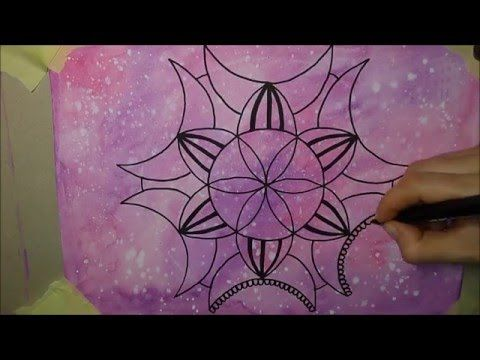 How to draw mandala WATERCOLOUR (2) - Jak narysować mandalę FARBY AKWARE...