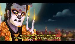Xibalba la muerte :`) tres leches The Book of Life el libro de la vida tbol manolo sanchez maria posada Joaquin mondragon the candle maker role swap au i learned that i hate drawing flowers : tbol role swap au