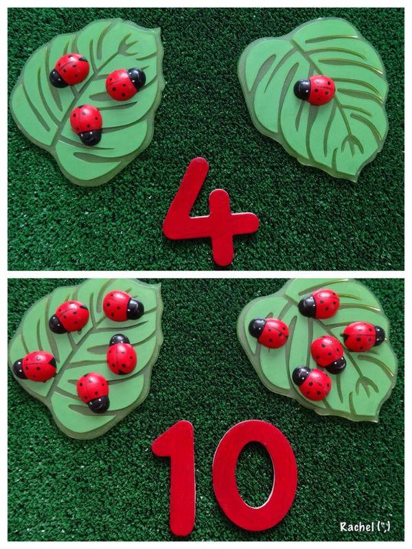 """Garden Maths - simple number bonds - from Rachel ("""",)"""
