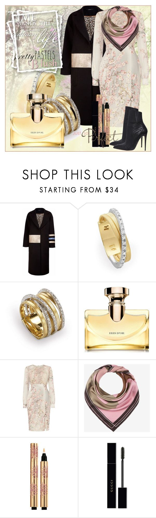 """Spring. BVLGARI IRIS D OR"" by chechetta ❤ liked on Polyvore featuring Marco Bicego, Bulgari, Phase Eight, Bally, Yves Saint Laurent, Gucci and Paul Andrew"