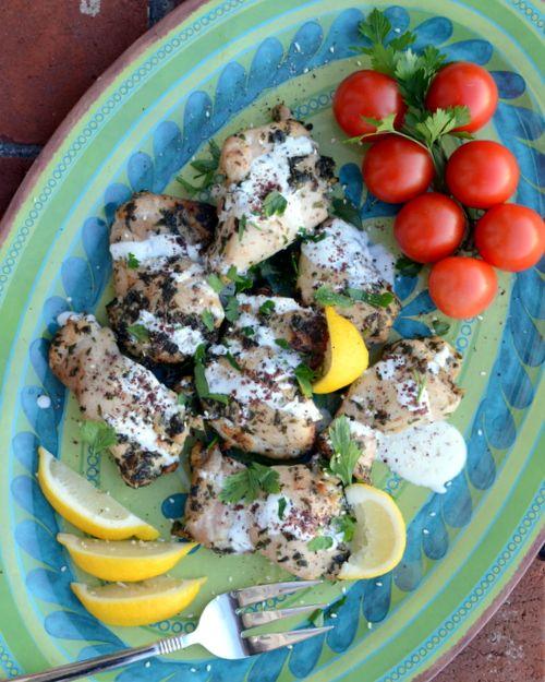 Easy Garlic-Herb Mediterranean Chicken aka Med Chicken ♥ KitchenParade.com