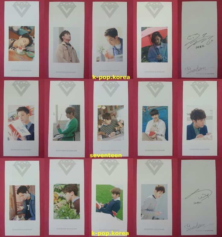 LOT of 13 SEVENTEEN Official Photocard FIRST LOVE & LETTER ...