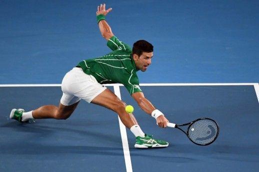 Serbia S Novak Djokovic Hits A Return Against Germany S Jan Lennard In 2020 Novak Djokovic Australian Open Serbia