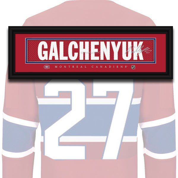 Montreal Canadiens - Alex Galchenyuk - NHL Jersey Name Print