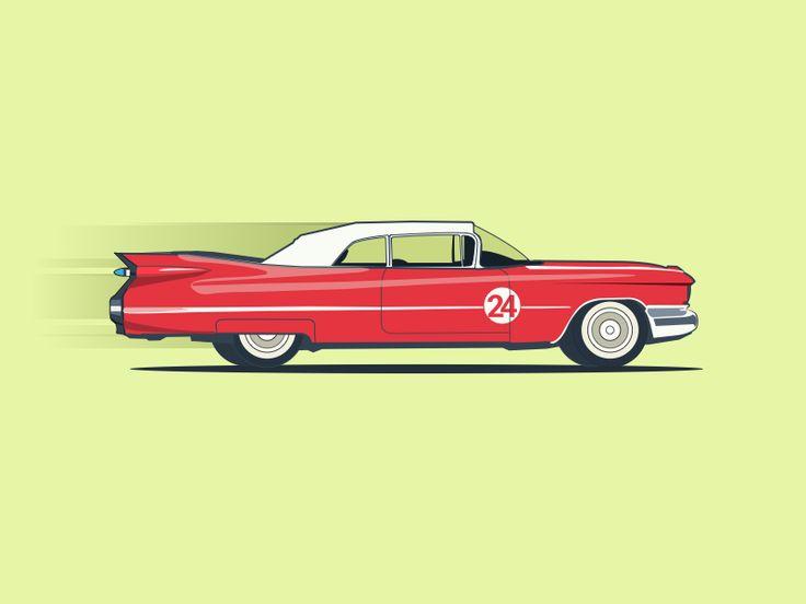 Edsel Corsair Classic Vintage Car illustration  by pramod kabadi