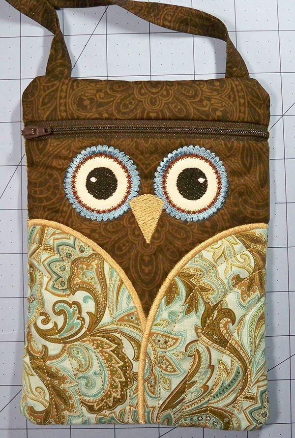 Sew Easy In The Hoop Owl Purse Tutorial Machine
