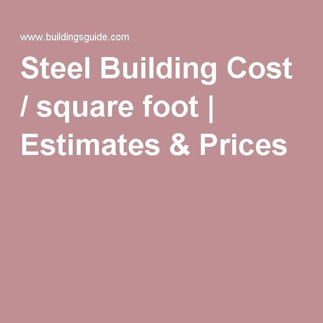 Steel Building Cost / square foot | Estimates & Prices