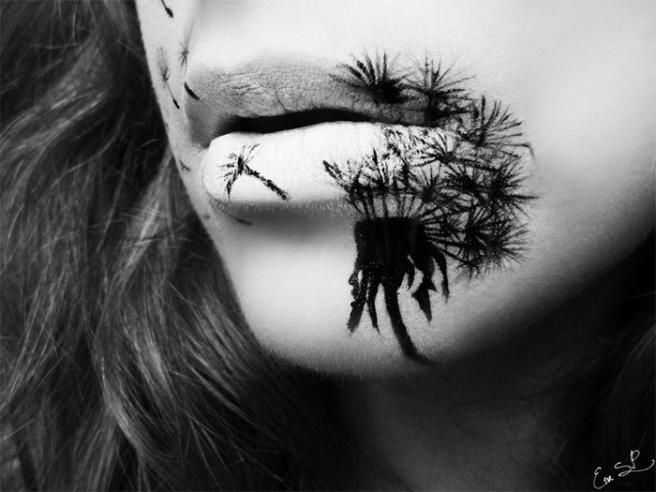 A masterpiece by Eva Senin Pernas!!   #makeup #halloween #lips