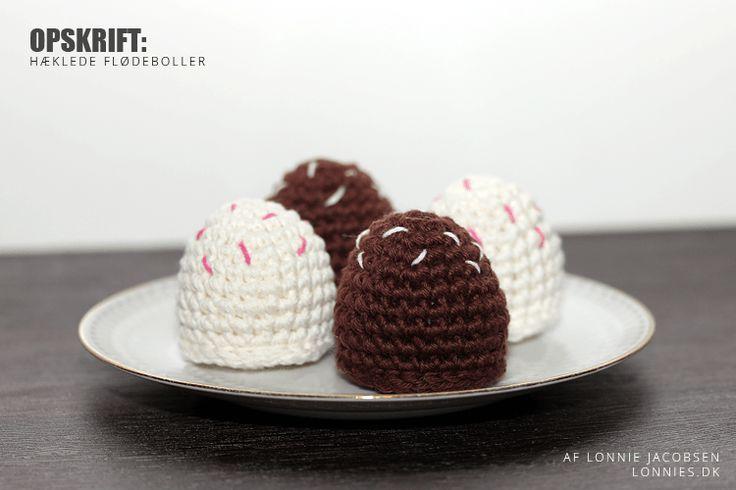 Opskrift: Hæklede flødeboller
