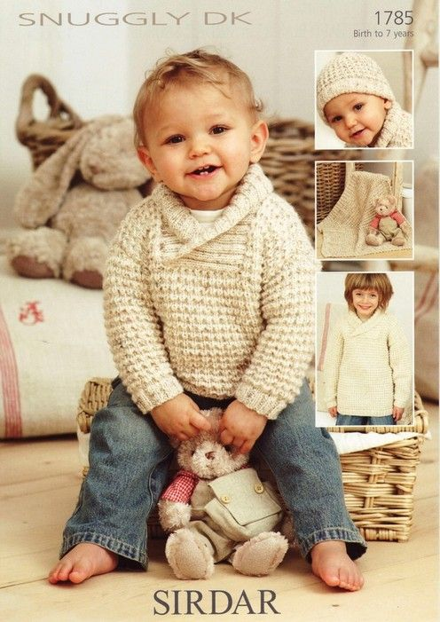 Sirdar--Sweater, Hat & Blanket (birth to 7 years)