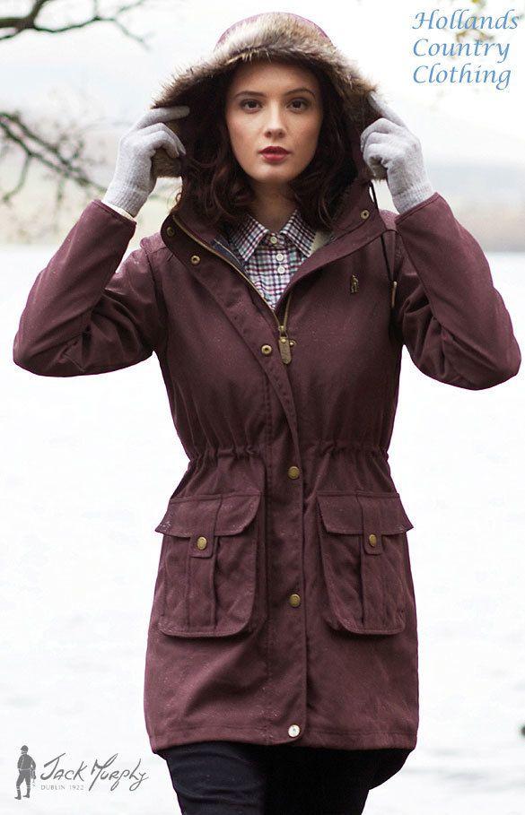 Alexis DEEP CLARET Ladies Parka Coat JACK MURPHY  JAC 624