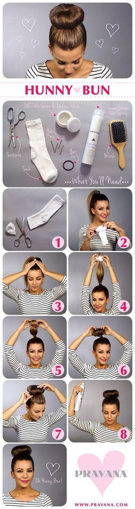For those of you with lots of hair- an alternative to plain, boring buns or ponytails.