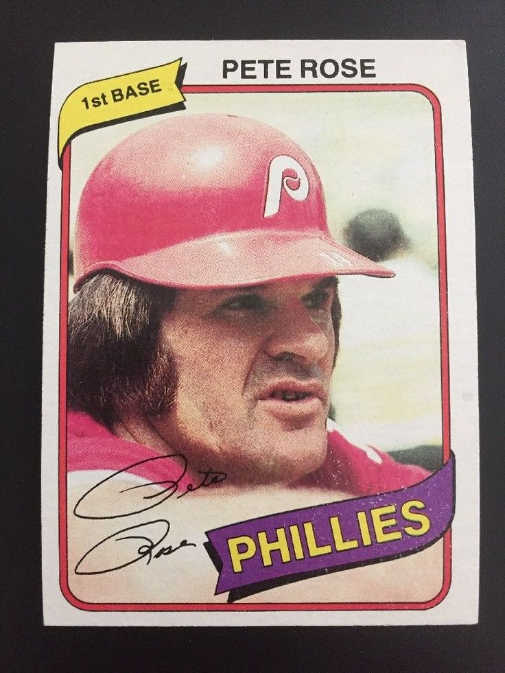 Details about 1980 Topps Pete Rose Baseball Card 540