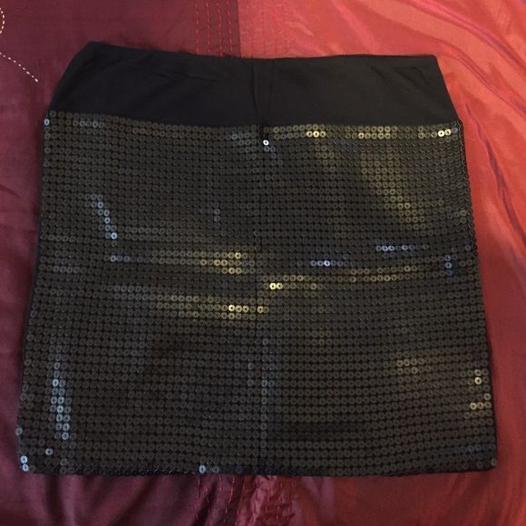 JOE Fresh black sequined mini skirt JOE Fresh black sequined mini skirt. Lined. Like new. Joe Fresh Skirts Mini