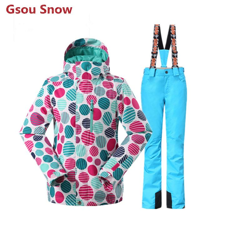 Gsou Snow Winter Ski Jacket Women Cheap Ski Suit Female Snowboard Jaket and Pant Veste Ski Femme Warm Clothing Ski pants