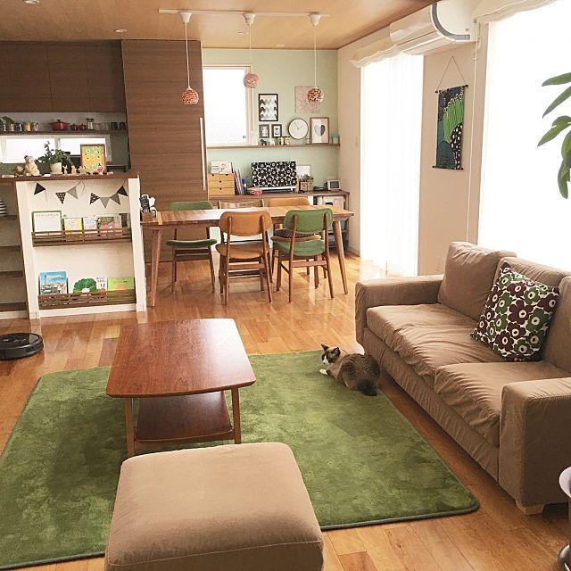 見習いたい お部屋のイメージに合うカラーコーディネート リビングダイニング 10畳 模様替え 小さなリビングルーム