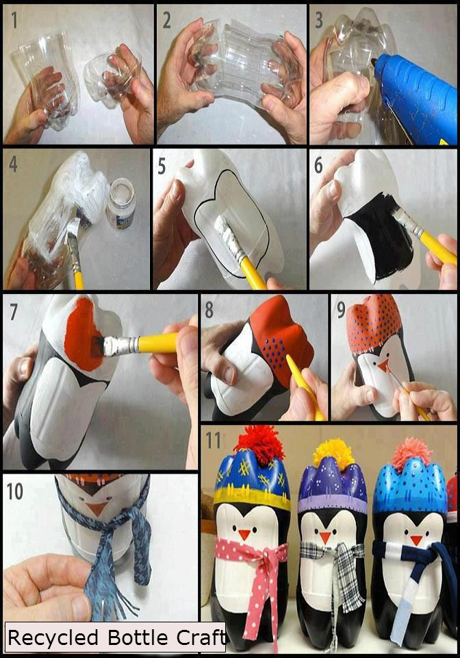 Let's try this craft with recycled bottles.