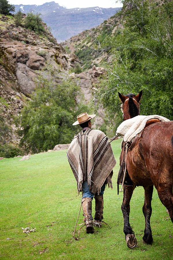 Victor returning to a Horse farm in El Toyo region of Cajon del Maipo, Chile, South America. Arrieros or cowboys work guiding people safely in the mountains on horseback. A couple of weeks ago we were lucky enough to be asked by Kim if she could come and take photos. We of course said yes after seeing her great travel/photo blog.  Kim beatifully captured a great snapshot of a her day out with a real Chilean cowboy! Photo by Kim Walker. http://www.uniquetravelphoto.com/?p=2221&preview=true