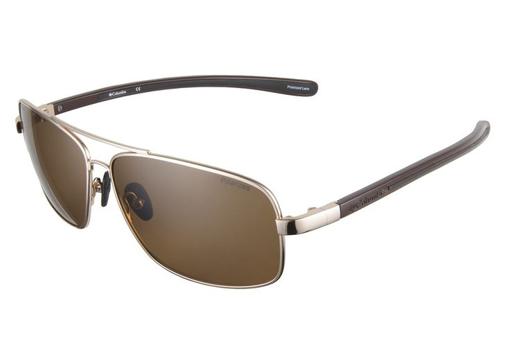 Columbia Padre C01 Gold Brown Polarized 63 sunglasses. Low prices, superior service, fast shipping, high quality, authentic products. from @ClearlyContacts