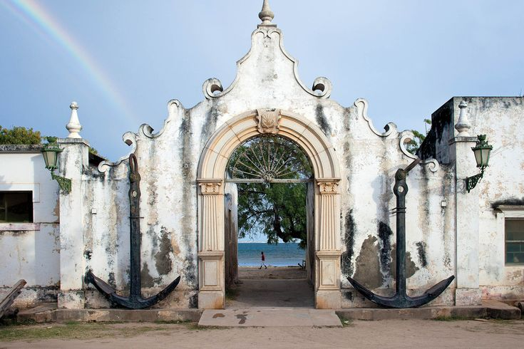 Entrance 17th-century customs house, Ilha de Mocambique, Mozambique