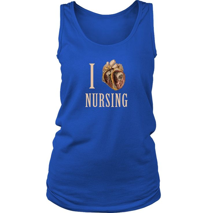 Cover your body with amazing and funny Nurse top. I heart Nursing is a tank top that will make people laugh. Check the whole Nurse Collection. If you want different color, style or have an idea for de