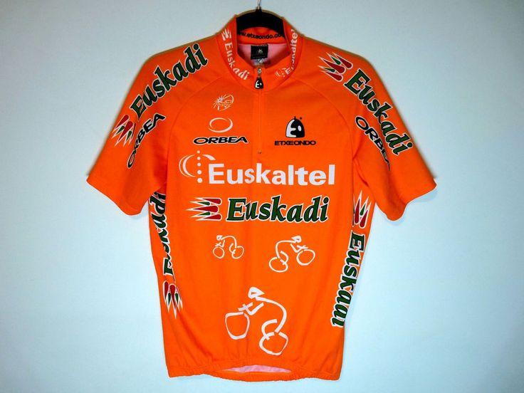 Euskadi Orbea orange cycling jersey maillot cycliste - Large