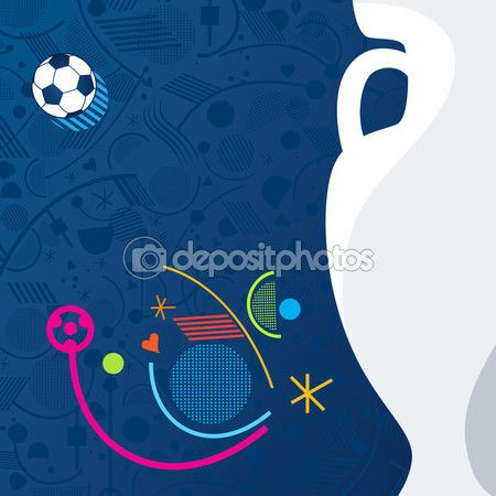 European Championship Soccer 2016 Abstract background. Vector Illustration. Sport, Football Championship soccer, Soccer ball. Sport symbols, Football elements. — Stock Vector © sofiartmedia.gmail.com #113566994