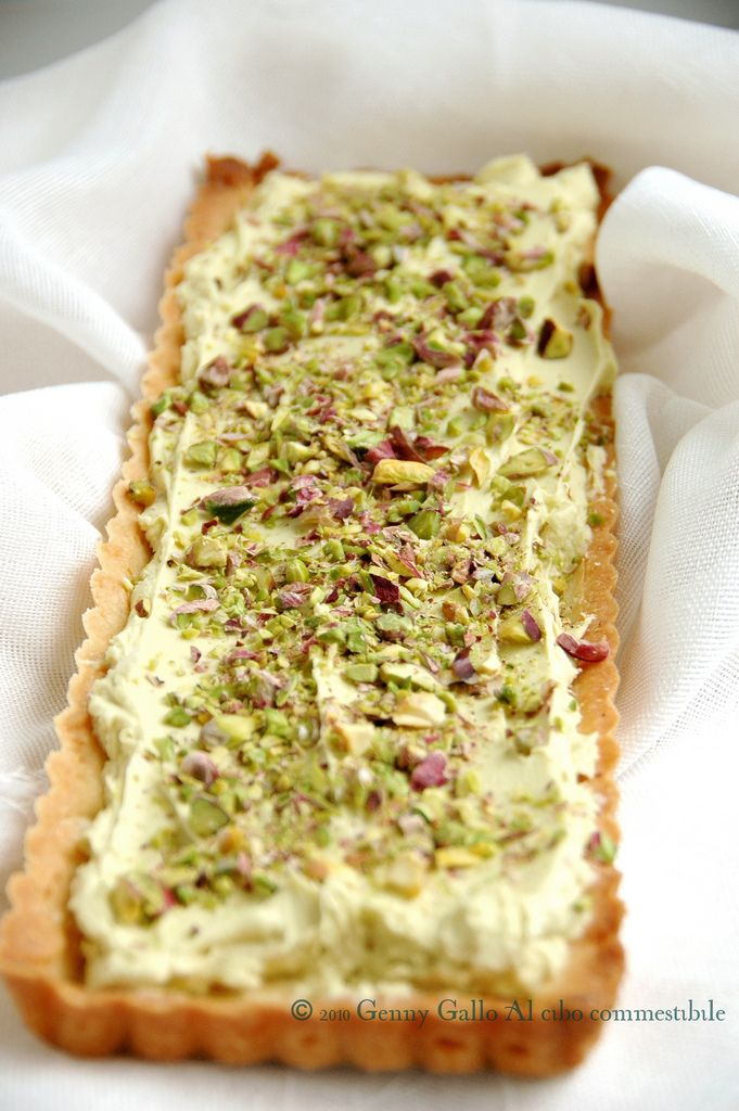 Crostata di crema al pistacchio da leccarsi i baffi!(ultimi botti pre dieta?) - Al cibo commestibile