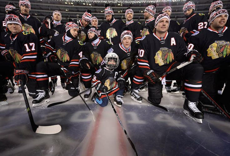 Stadium Series: Friday Night Practice - 02/28/2014 - Chicago Blackhawks - Player Appearances & Events Photo Gallery