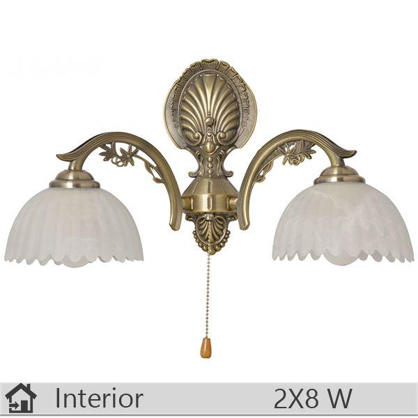Aplica iluminat decorativ interior Klausen, gama India, model AP2 http://www.etbm.ro/aplica-iluminat-decorativ-interior-klausen-gama-meda-model-ap1