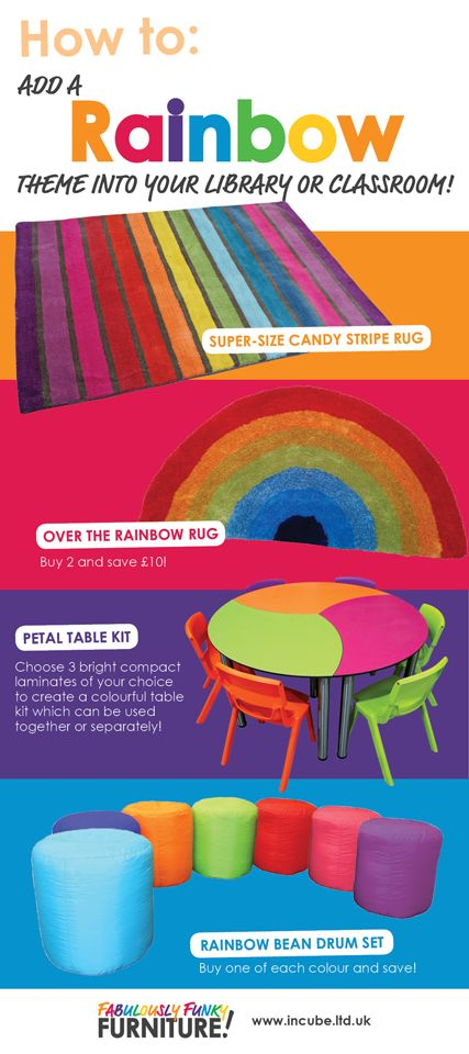 How to add a Rainbow theme into your library or classroom with the help of Incube!