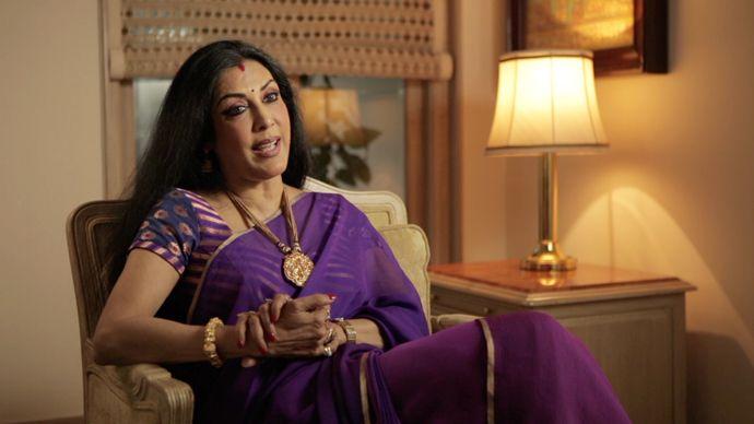 Vani Ganapathy in Purple Chiffon Saree