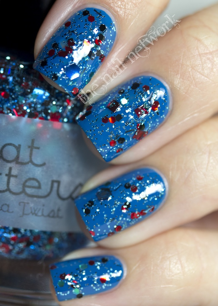 All That Glitters Cha Cha Twist over CND Anchor Blue: Nails Art, Cha Twists, Nails Network, Nails Polish, Blue Jeans Swatch, Cnd Anchors, Glitter Cha, Anchors Blue Thi, Blue Thi Legit