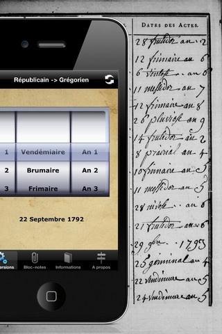 revol-di. Convertissez rapidement et facilement les dates du calendrier républicain vers le calendrier grégorien et inversement. Application #iphone gratuite