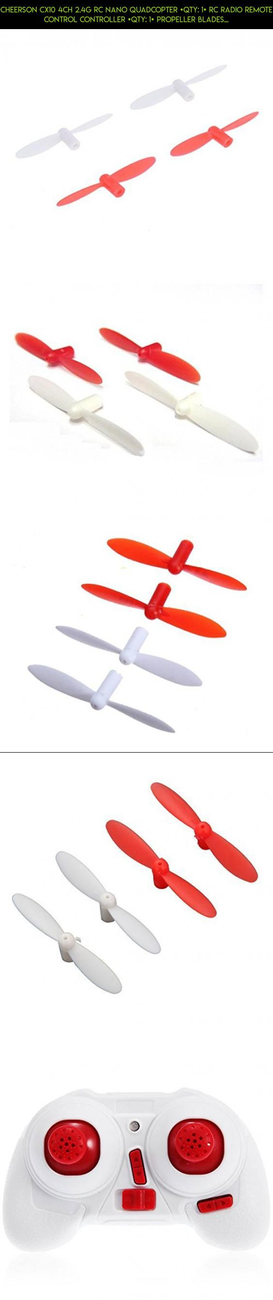 Cheerson CX10 4CH 2.4G RC Nano Quadcopter [QTY: 1] RC Radio Remote Control Controller [QTY: 1] Propeller Blades Yellow & White Propellers Props Prop Set [QTY: 1] Blade Red [QTY: 1] Green #products #camera #tech #shopping #plans #technology #cheerson #fpv #drone #gadgets #parts #kit #x1 #racing