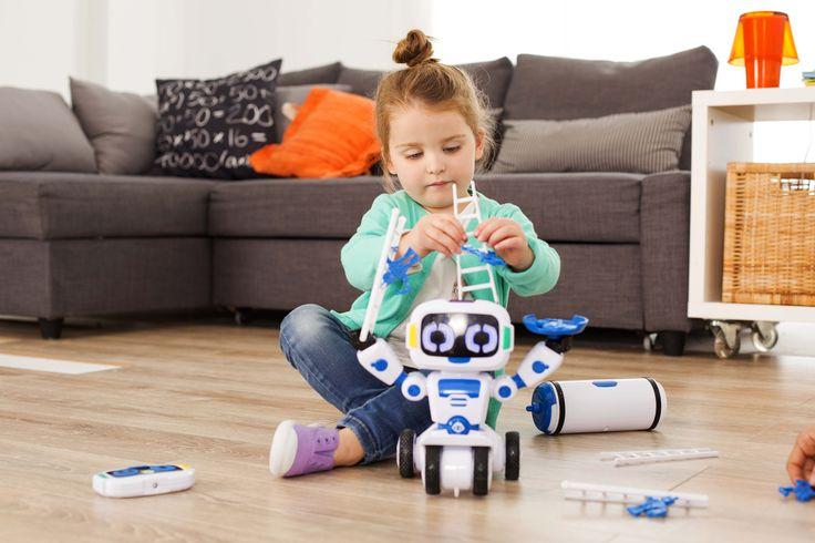 Robot interactivo para niños :) Personalidad interactiva y divertida. Hace malabares, apila, cuenta y mucho más. Control remoto sencillo, con 5 modos de juego. ¡No te lo pierdas! #robot #niño #juguete