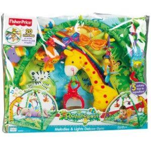 Fisher Price - Rainforest de luxe Activity Krabbeldecke mit Spielbogen mytoys.de