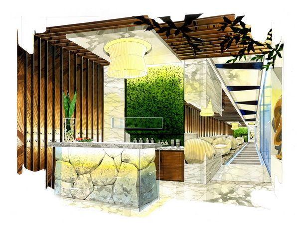 Spa reception rendering