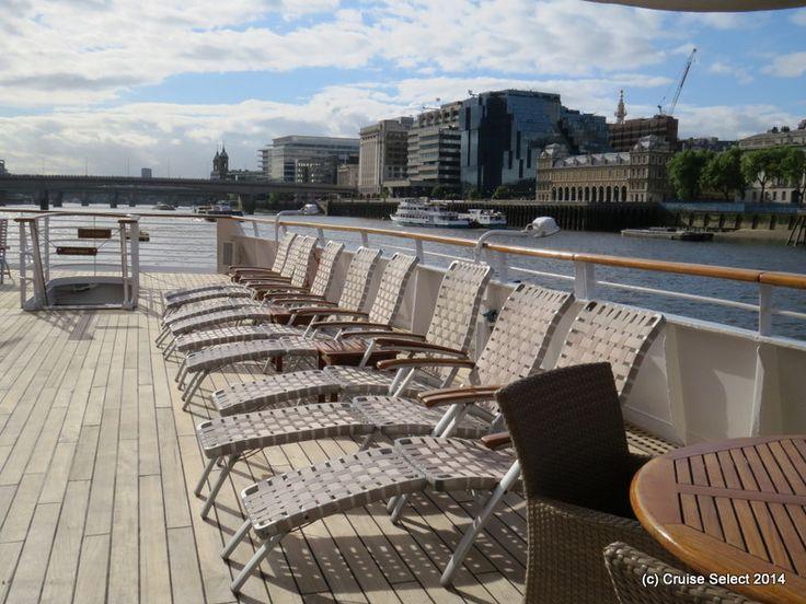 Seadream 1 - Pool Deck - At London Tower Bridge