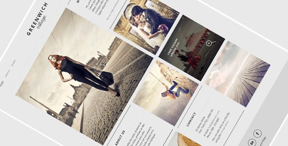 Greenwich Village – One Page WordPress Theme - Experimental Creative