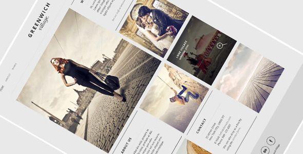 Greenwich Village – One Page WordPress Theme - Experimental Creative