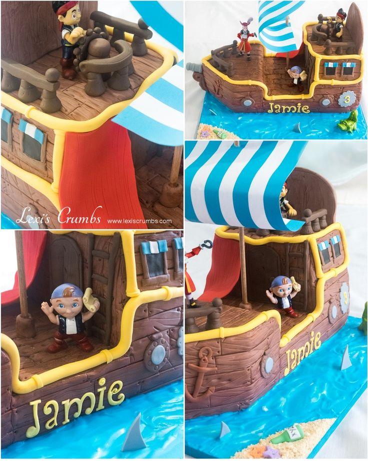 Pirate ship cake www.lexiscrumbs.com