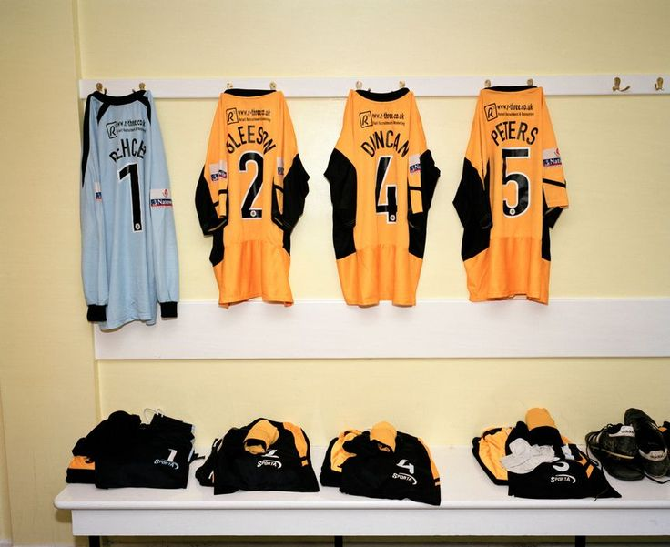 Magnum Photos -  Martin Parr G.B ENGLAND. Cambridge. Cambridge United's dressing room. 2005.