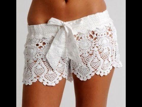 tutorial /Crochet shorts lace part 1-explains my friend diy