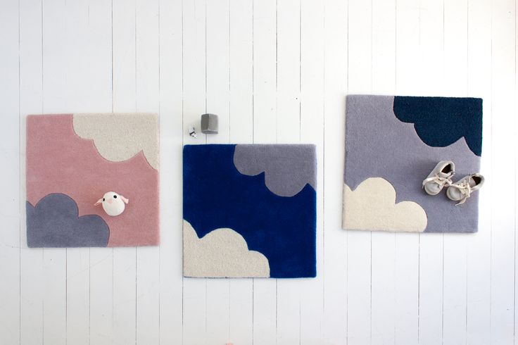 little P - 'My Bright Cloud' colour samples - Blossom, Azure & Cloudy