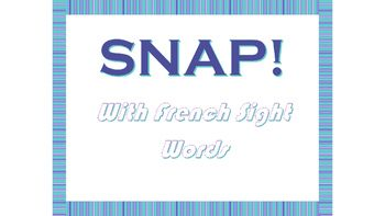 A fast paced, fun card game to help children to begin to recognize two letter French sight words.