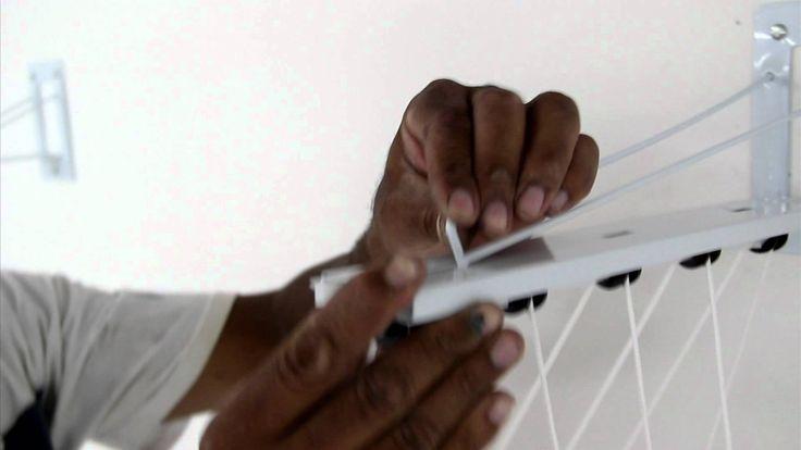 Manual em vídeo de Instalação Varal de Teto ou Parede Individual Innovar