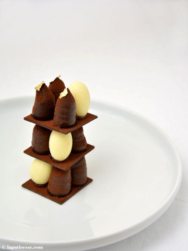 Mille-feuille tout chocolat Lindt Schokoladen Mille-feuille Rezept