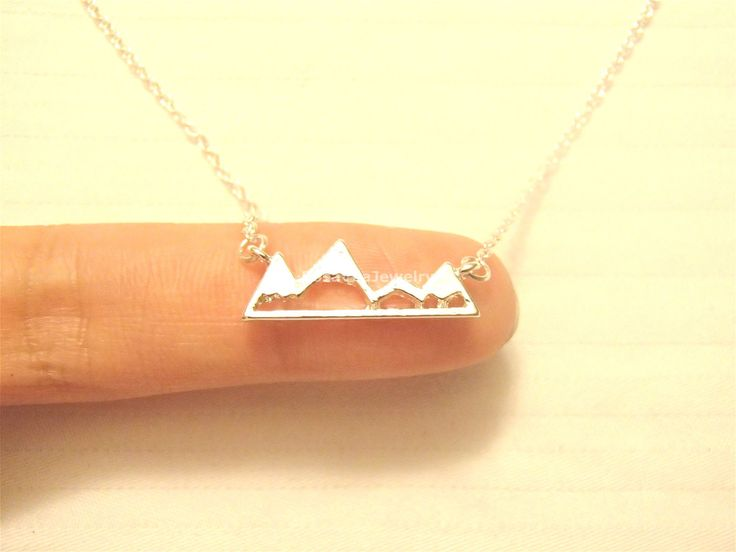 Mountain Necklace For Mountain Lovers, Hikers and Skiers