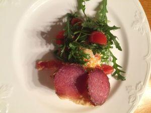 Fantastisk god och saftig Italiensk paj med salami.